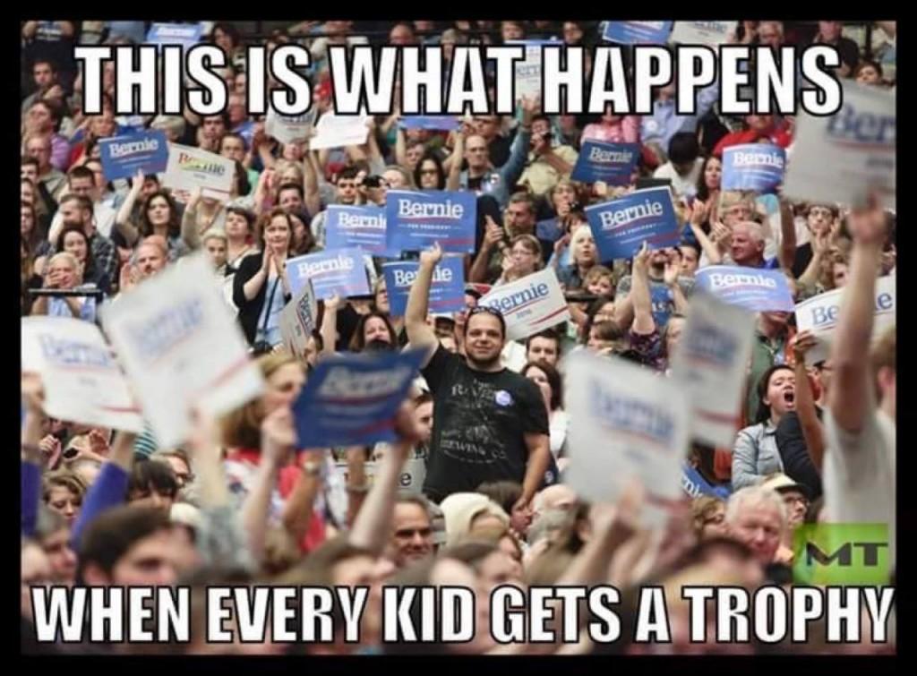 Bernie Sanders everyone gets trophy